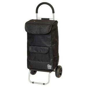 Trolley Dolly Mobile Shopping Grocery Cart Heavy Duty Wheels Black Dbest