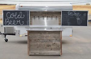 Custom Cold Refrigerated Draft Beer Mobile Enclosed Cargo Trailer 6 Taps