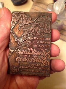 Rare Vintage Southland Belle Shoes Printing Block
