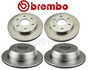 For Chevy Gmc Pair Set 2 Front Rear Disc Brake Rotors Kit 6 Lugs Vented Brembo