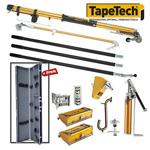 Tapetech Full Drywall Taping Finishing Set With Free Tool Case New