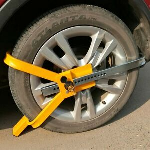 Safety Locking Wheel Clamp Boot Tire Claw Trailer Car Anti Theft Towing Steel