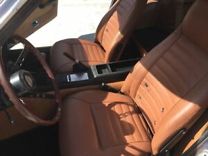 1970 1978 Datsun 240z 260z 280z Leather Replacement Burnt Orange Seat Covers