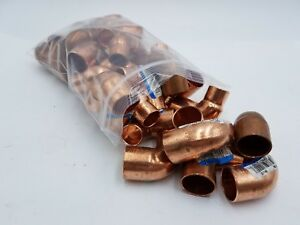 35 Pc Lot Nibco Wrot Copper 90 Elbow 1 2 M To 3 4 F Reducer Plumb Fitting
