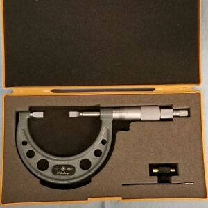 Excellent Shape Mitutoyo No 122 126 Blade Micrometer 1 0 To 2 0 Res 0001
