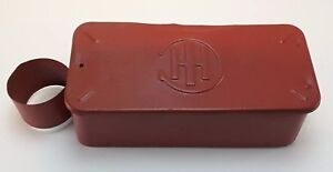 Vintage International Harvester Ih Case Tractor Metal Tool Box Oil Can Holder