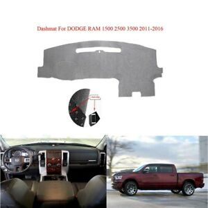 For 2011 2016 Dodge Ram 1500 2500 3500 Dashboard Mat Dash Cover Carpet Anti Slip