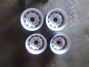 Original 15 Rally Wheels 1973 87 15x8 6 Lug Chevrolet Truck K5 Blazer 4x4 Gmc