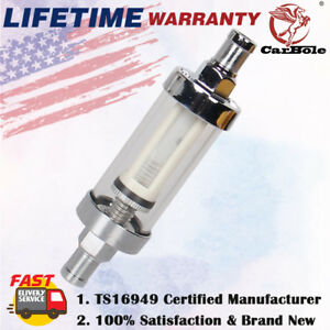 Universal 3 8 Inline Finish Petrol Clearview Inline Fuel Filter In