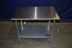Used Eagle Group T2436e 36 X 24 X 32 Stainless Steel Work Table With Galvaniz