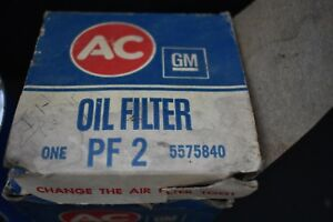 Nos Vintage Ac Delco Oil Filter Pf2 5575840 For Amc Ford Mazda Rover Jeep