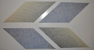 White Mustangs Only 05 10 Saleen Blue And Black Fader Stripes Oem Nos Orig