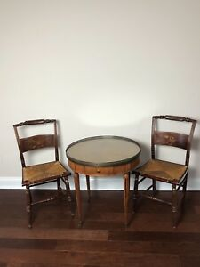 Pair Of Antique Hitchcock Chairs C1850 S