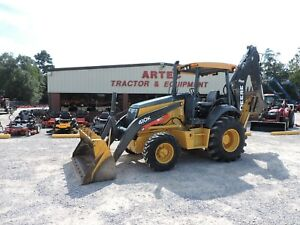 2014 John Deere 410k Backhoe Loader Rear Hydraulics Very Nice Machine