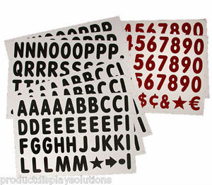 314 4 Replacement Letters Numbers Kit For White Message Board Sidewalk Sign