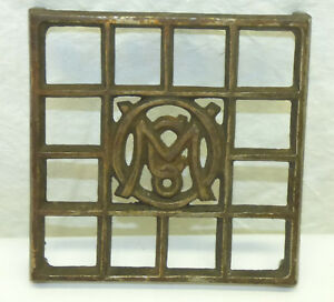 Antique Cast Iron Metal Ober Omco 4 3 4 Square Sadiron Trivet Stand