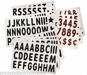 289 5 Replacement Letter Numbers For Roadside Xl Message Board Signs