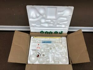 Kimble Kimax 33820 Glass Organic Chemistry Kit 5 24 40 Joints Styrofoam Case