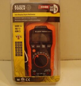 Klein Tools Mm400 Digital Multimeter Auto ranging 600v Nice New Open Box