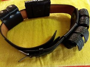 Don Hume Police Duty Belt With 4 Speed Loaders S w K Frame More Picker Find