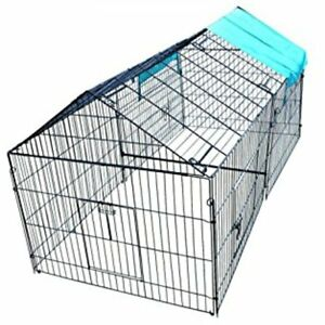 Chicken Cook Cage Pens Crate Rabbit Enclosure Pet Playpen Exercise