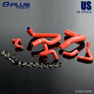 For 1986 1993 Ford Mustang Gt Lx Cobra 5 0 Red Silicone Radiator Hose Kit
