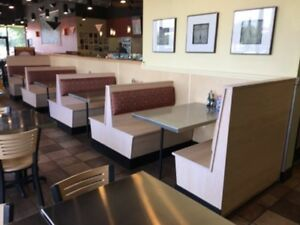 Stainless Steel Table Tops 48x30 With 10 Wood Booths