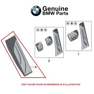 For Bmw F15 X5 F16 X6 M Performance Stainless Steel Footrest Dead Pedal Oes