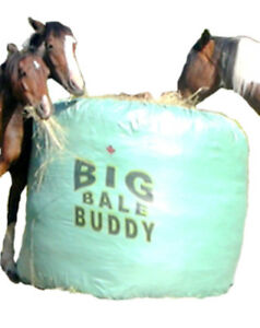 Big Bale Buddy Size Small Feed Hay Horses Equine Green Round Bale Feeder