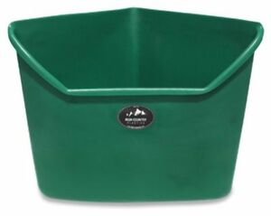 High Country Plastics 24 Corner Feeder Sloped Bottom Corner Installation Green