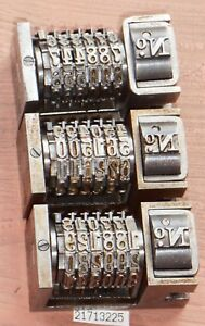 Letterpress Numbering Machines Standard Lot Of 3