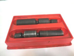 Snap on Tools Double Swivel Spark Plug Socket Set 5 8 13 16 3 8 Dr 6 Pt