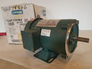 Leeson Wattsaver C4t17fk2c 3ph 1 2 Hp S56c Frame Rigid C New Old Stock
