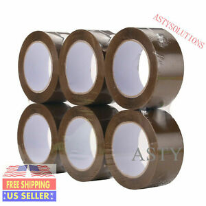 72 Rolls 2 x110 Yd 330 Ft Clear Carton Packing Package Tape 2 5 Mil Free Fedex