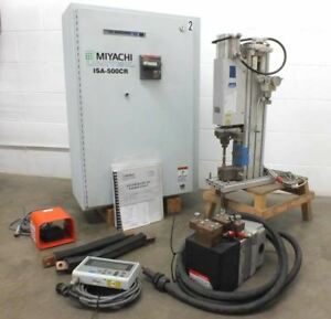 Miyachi Unitek Isa 500cr Inverter Resistance Spot Welder With Mh 1201a Weld Head
