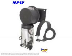 Ac2h18n New Ford 8n Tractor Air Cleaner Assembly 1 2 Pint Jar Clamp Side Mount