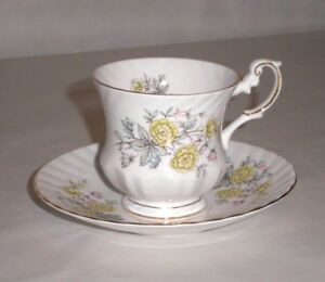 Queens Rosina China Co Cup And Saucer Set Flowers And Gold Rim