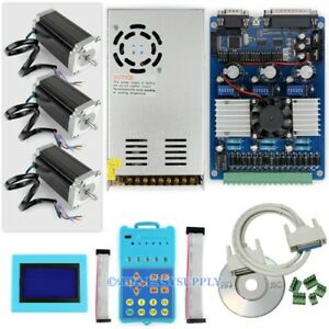 3 Axis Tb6560 Driver Kit Keypad display 2 5nm Nema 23 Stepping Motors Psu