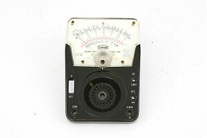 Vintage Calrad Tk 301 Analog Multimeter Replacement Face Plate And Meter Nos
