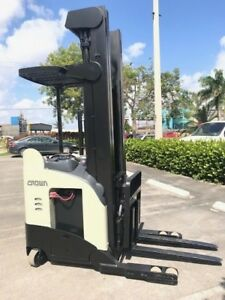 2010 Crown Reach Truck Rr5725 45 Electric Forklift 119 270 h Cold Storage
