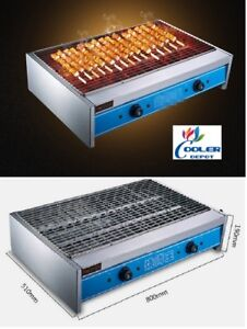 New Electric Broiler Bbq Shish Kebab Skewers Counter Top Stainless Steel 220v