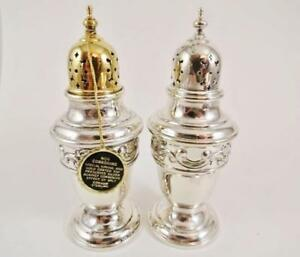 Gorham Strasbourg Sterling Silver Salt Pepper Shakers New Old Stockexc Cond