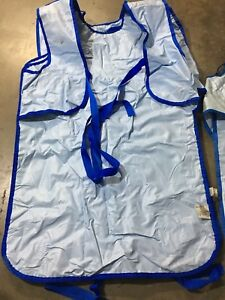 Lot 4 Radiation Blue X Ray Apron 2 Neck 5mm 85kvp