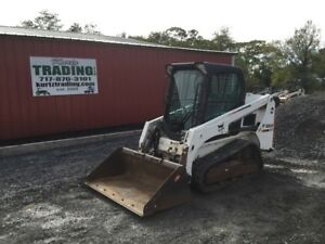 2015 Bobcat T450 Tracked Skid Steer Loader W Cab Joysticks