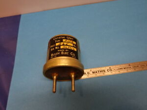 Vintage Quartz Resonator Bliley Electric Fm6 Frequency 265 Kc As Is 90 06