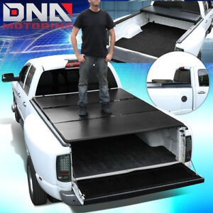 For 1999 2018 Ford Super Duty 6 5 bed Aluminum Frame Hard Tri fold Tonneau Cover