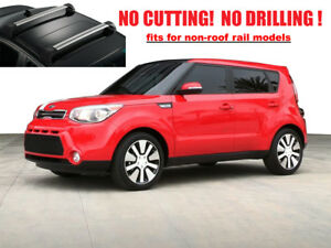 For 2015 2019 Kia Soul Roof Racks Cross Bars Rails Top Carrier Alu Silver 2 Pcs
