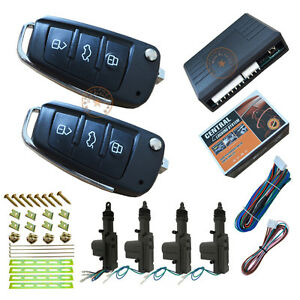Car Electric Remote Central Lock System With 1 Master 3 Slaves Door Actuators