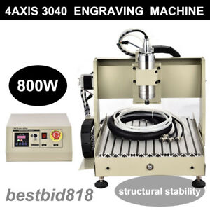 Engraver 4 Axis Cnc Router Kit 3040 Drilling Milling Machine 800w Vfd Watercool