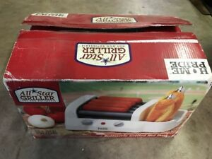 Home Pride Tf211 Ballpark Hot Dog Cooker Bun Warmer Roller Rotisserie Grill Nos